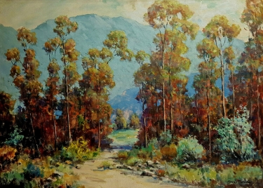 Paul Conner Eucalyptus Grove 24x36 Oil on Board