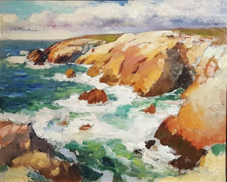 Paul Dougherty California Coast 13x16 Oil on Board