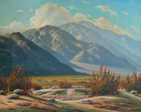 Paul Grimm Desert and Mountain Symphony 24x30 Oil on Canvas