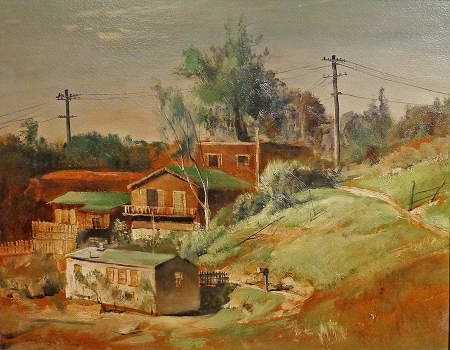 Paul Lauritz Chavez Ravine Hillside 18x24 Oil on Board