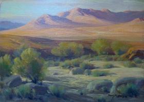 "Perry McNeely  ""Desert Hills""  12x16 oil on board"