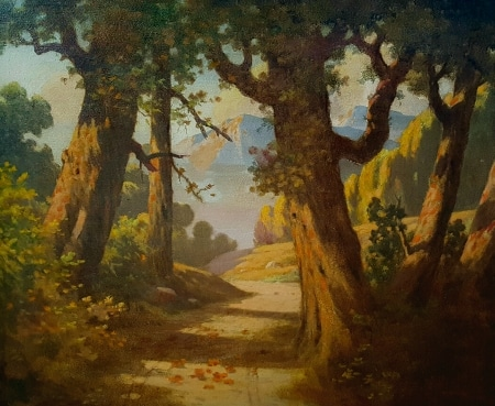 R. E. Noble Mountain Path 30x36 oil on canvas