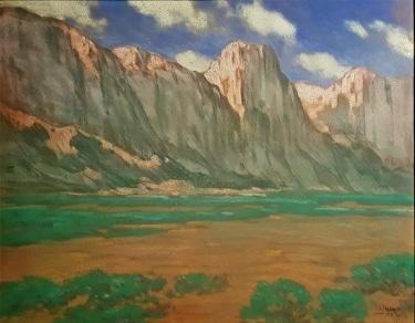Raymond Nott Desert Valley 19x24 Pastel on Board