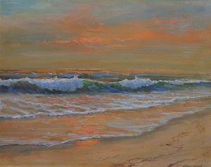 Robert Wood  Laguna Sunset  16x20 oil on canvas