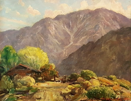 Thorwald Probst San Jacinto Homestead 16x20 Oil on Board