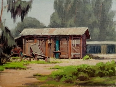 Unknown Abandoned Shack 12x16 oil on board