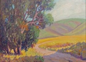 William Swift Daniell Golden California Hills 16x20 Oil on Canvas