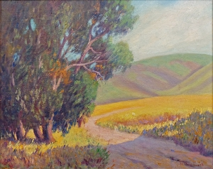 William Swift Daniell Golden California Hills 16x20 Oil on Canvas