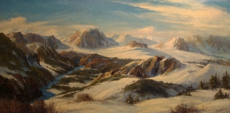 Bennett Bradbury Colorado Rockies 24x28 Oil on Board