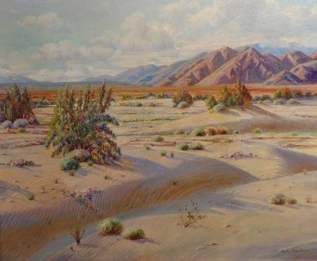 Bertha Faris Davis Desert Expanse 25x30 Oil on Canvas