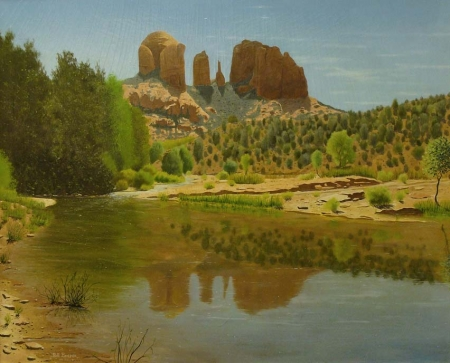 Bill Bender Southwestern View 30x38 Oil