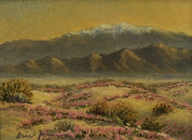 Erick Johnson Desert Flowers 5x7 Oil on Canvas