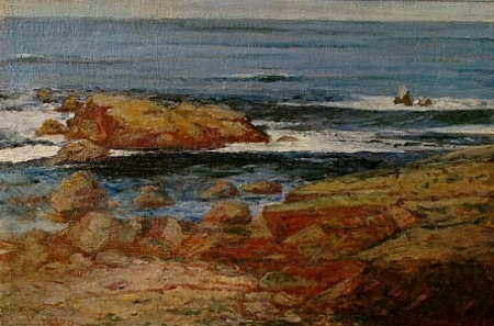 F M Pebbles Rocky Beach 16x24 Oil