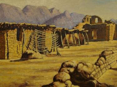 Frank Gavencky Santa Fe Adobe 18x24 Oil