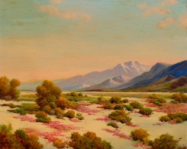 George Bickerstaff Desert in Spring 24x30 Oil on Canvas