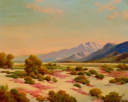 George Bickerstaff Desert in Spring 24x30 Oil on Canvas