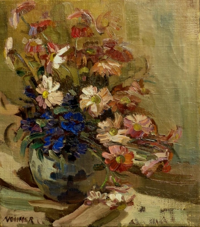 Grace Vollmer Floral Still Life 20x16 Oil on Canvas