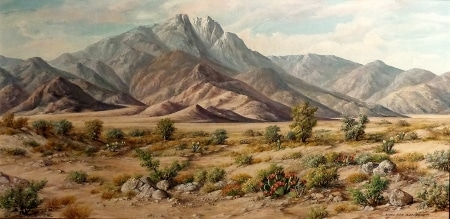 Karl Weiderhofer, San Jacinto Vista, 20x40 Oil on Board