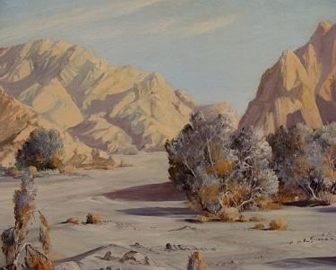 Marjorie Cummins Desert Scene 30x38 Oil