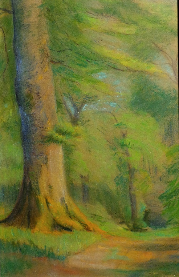 Fannie E Duvall Forest Path 20x13 Pastel