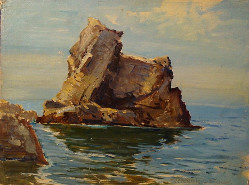 Frederick W Becker Bird Rock 12x16 Oil