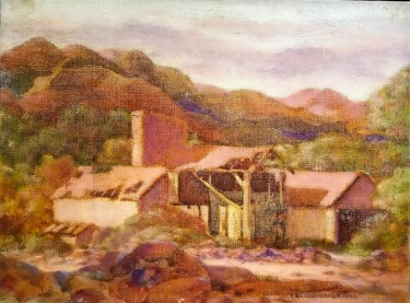Charles Drogkamp Abandoned Mine 12x16 Oil on Canvas