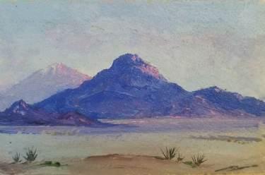 Edward Lanser Morongo Valley 3 1/2×5 oil on paper 65