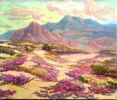 Marie B Kendall Desert Spring Color 24x30 oil on canvas $595