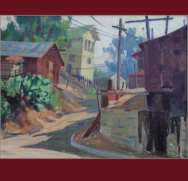 jack macartney, california artist, painter, oil painting, laguna beach, old homes, vander molen fine art