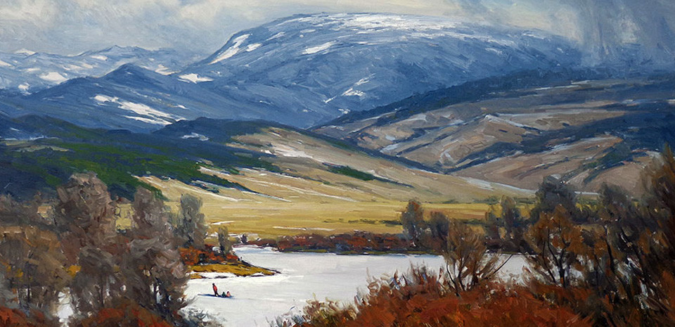 Taylor Lynde Winter Mountains and Meadow
