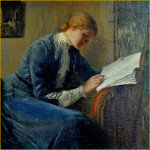 Woman Reading for Blurb